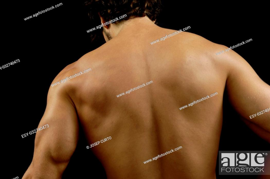Photo de stock: studio photography of a man with His back, .