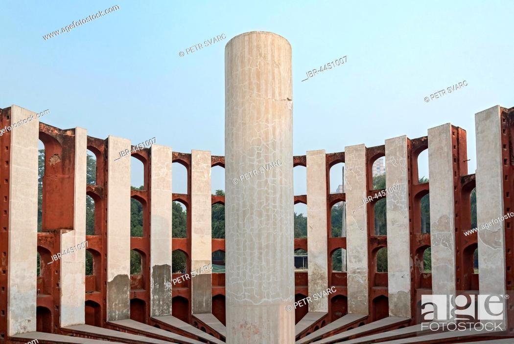 Stock Photo: Rama Yantra, Ram Yantras, Jantar Mantar, New Delhi, India.