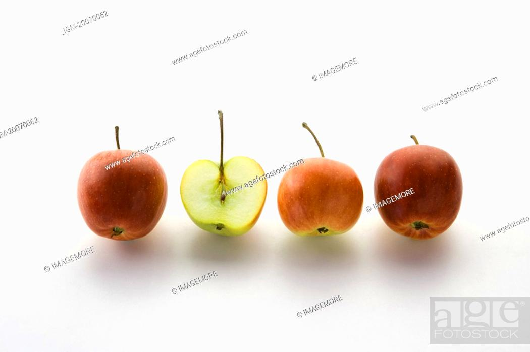 Stock Photo: Hua Guo, small apples.