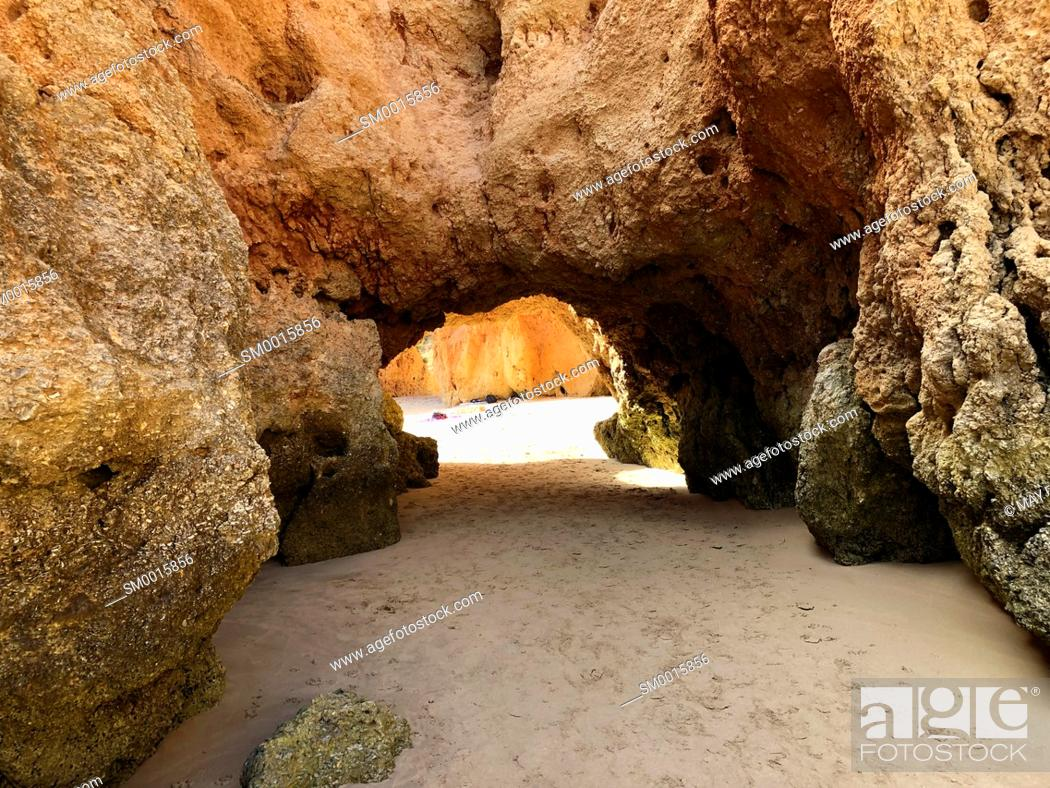 Stock Photo: Three Brothers beach, Alvor, Lagos, Algarve, Portugal, Europe.