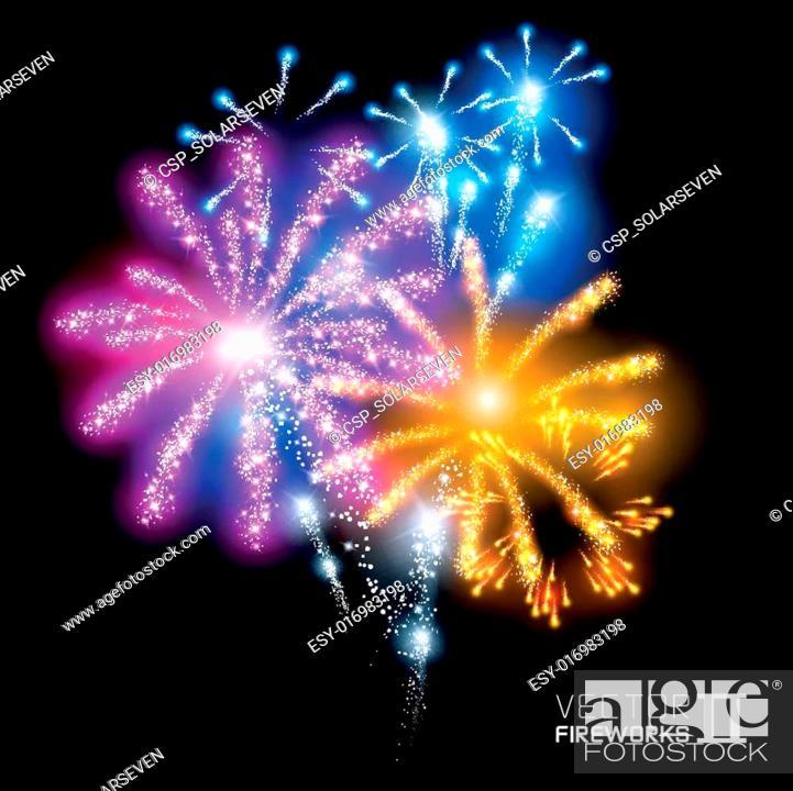 Stock Vector: Wonderful Vector Fireworks.