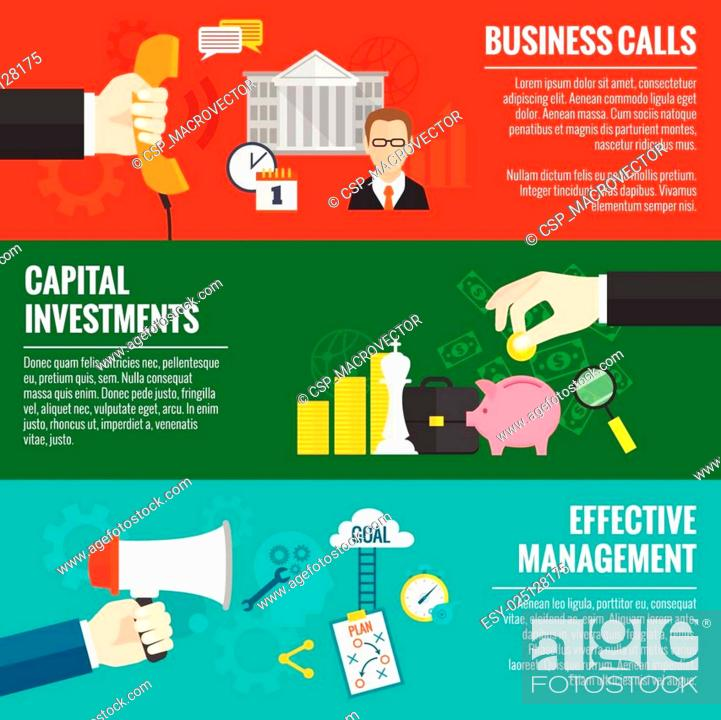 Stock Vector: Business Banner Set.