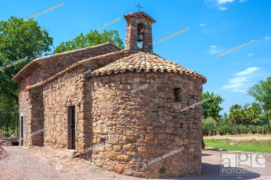 Stock Photo: Chapel Saint-Roch, Roquebrune-sur-Argens, Var, Provence-Alpes-Cote d`Azur, France, Europe.