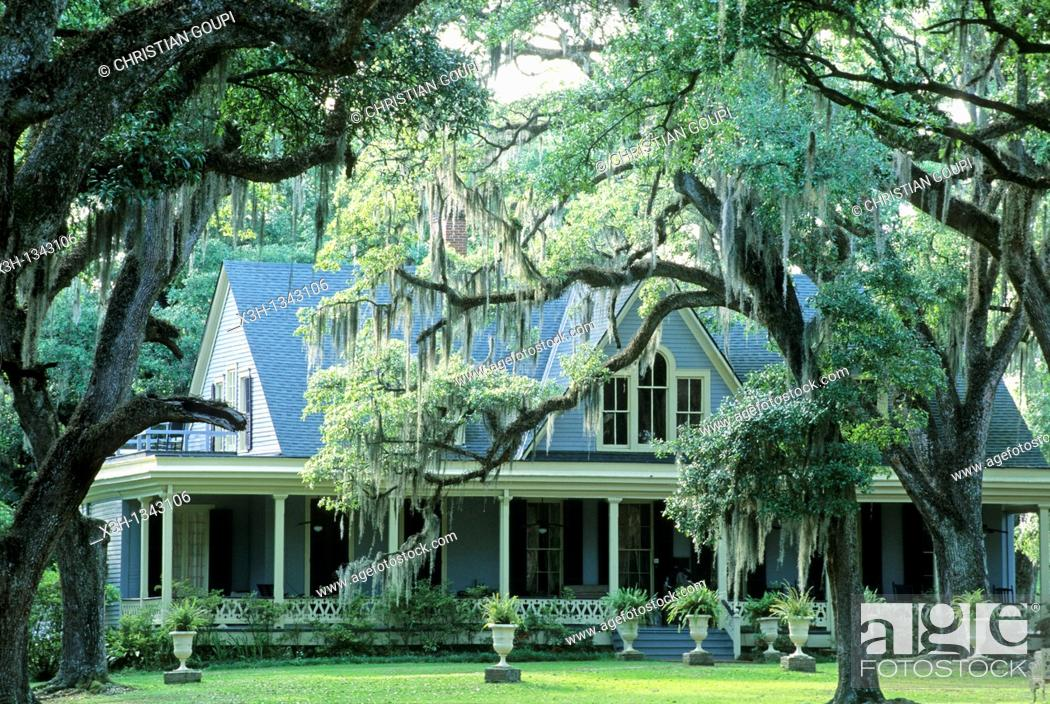 Stock Photo: Butler Greenwood, plantation and B&B, St Francisville, Louisiana, United States of America, Americas.