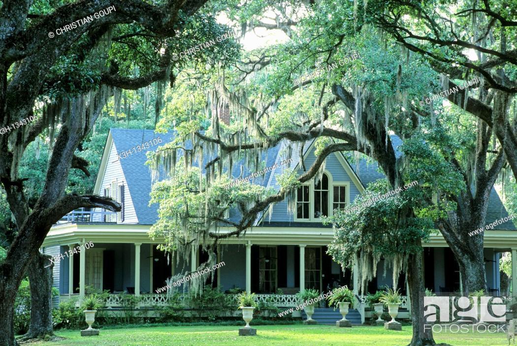 Stock Photo: Butler Greenwood, plantation and B&B, St Francisville, Louisiana, United States of America, Americas.
