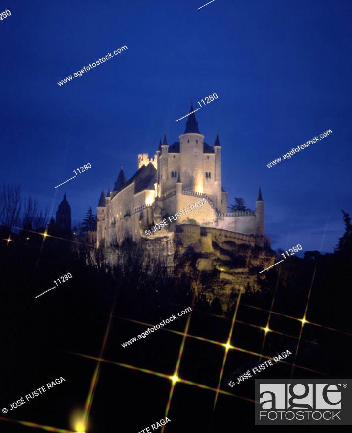 Stock Photo: Alcázar, medieval fortress. Segovia. Spain.