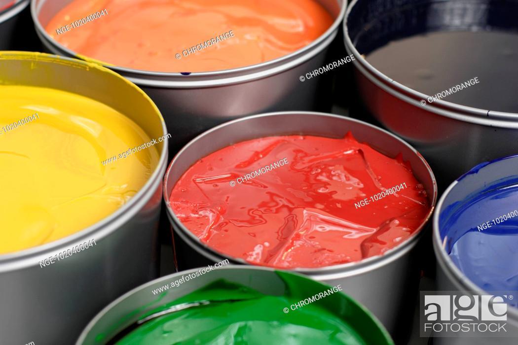 Stock Photo: Paint Pots.