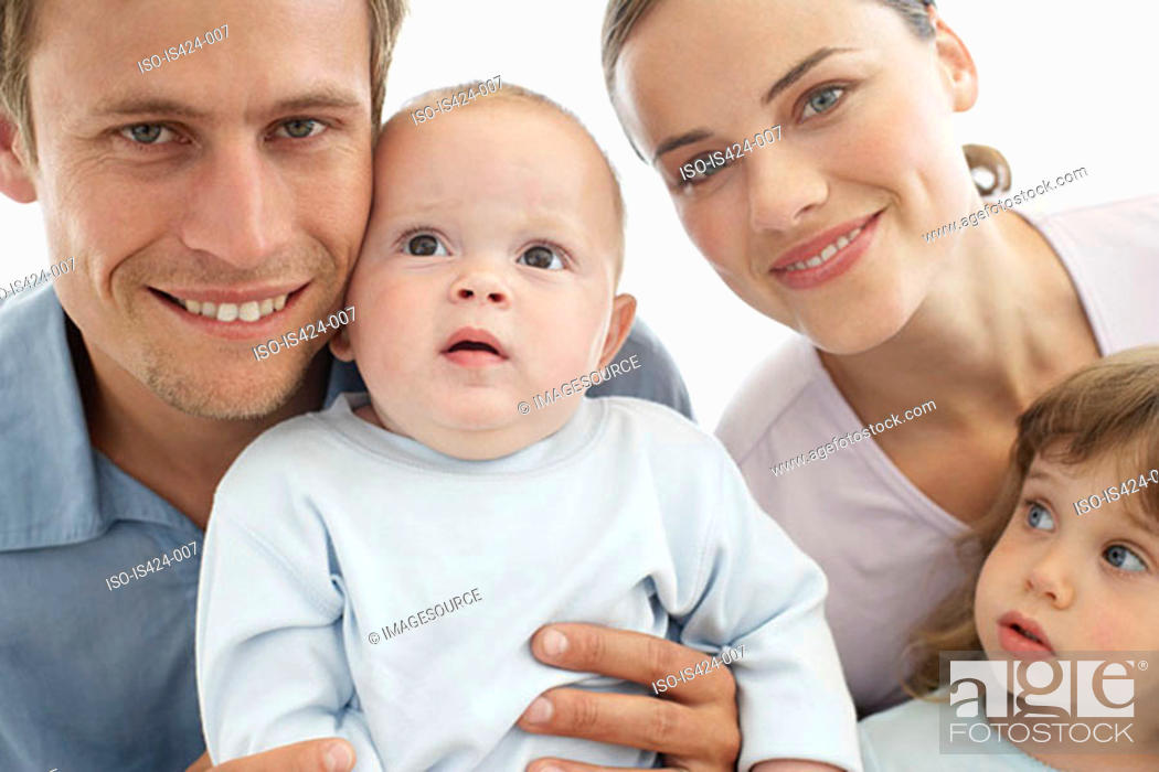 Stock Photo: Portrait of a family.