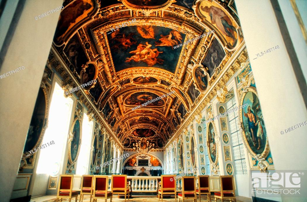 Stock Photo: Fontainebleau, France, inside French Chateau, Trinity Chapel.