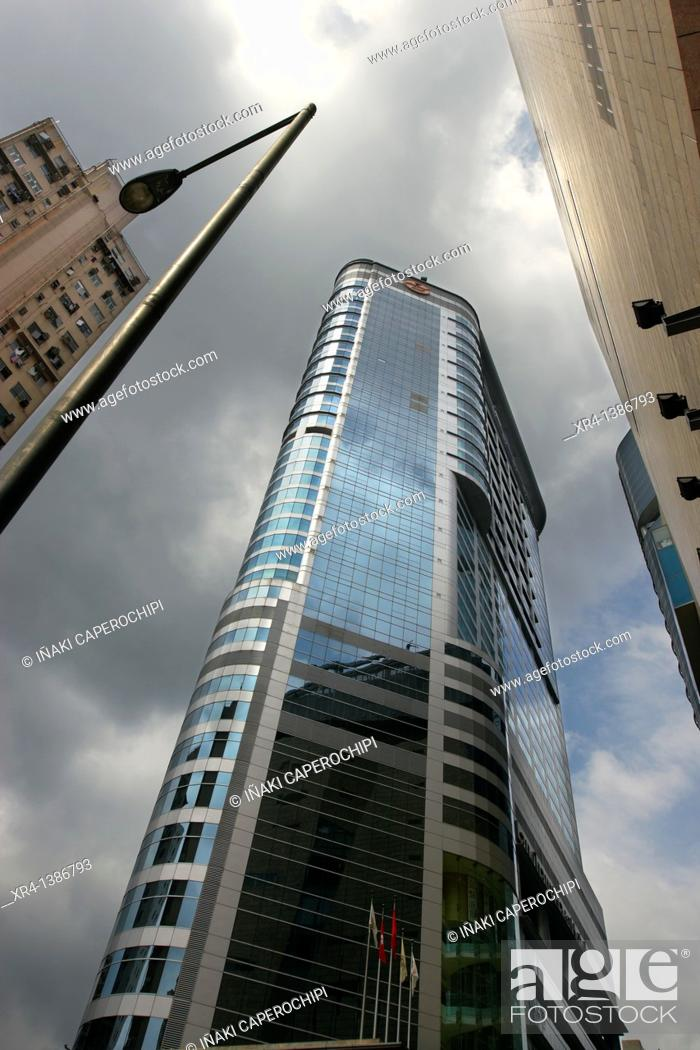 Stock Photo: Langham Place Office Tower, Mongkok, Hong Kong, China.