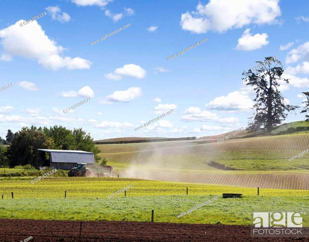 Stock Photo: New Zealand farming.