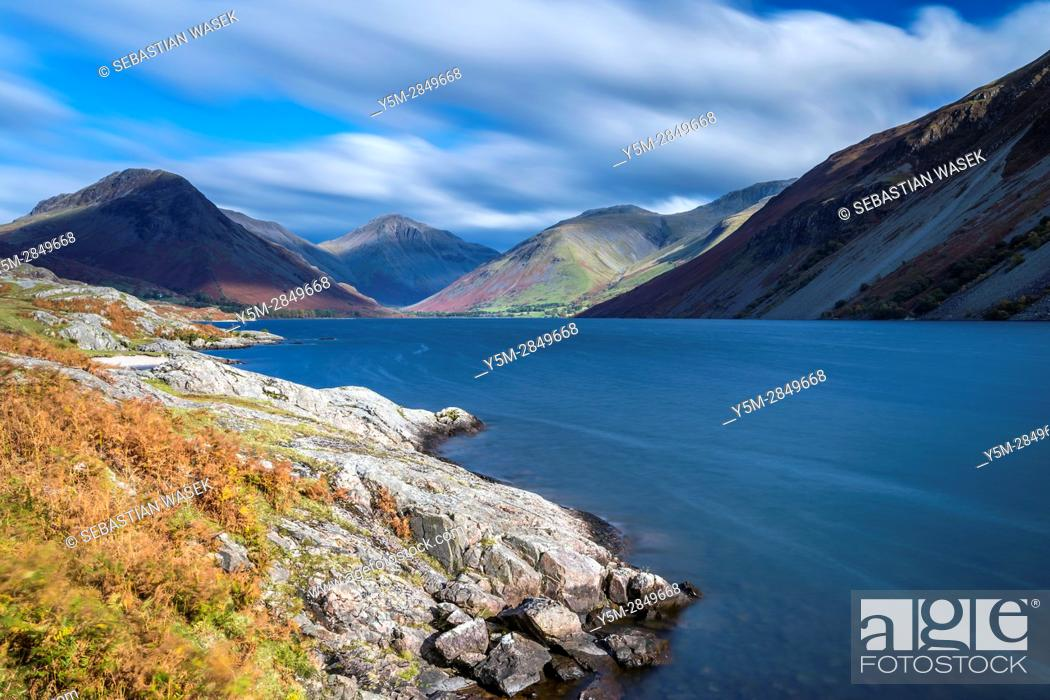 Stock Photo: Wast Water in autumn, Lake District National Park, Cumbria, England, United Kingdom, Europe.