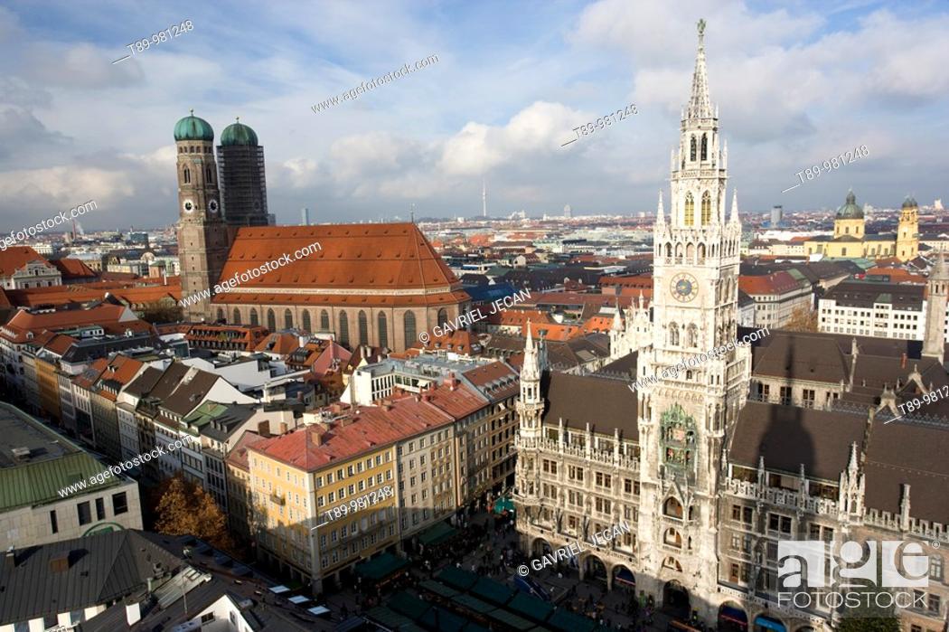 Stock Photo: Europe, Germany, Munich, Glockenspiel.
