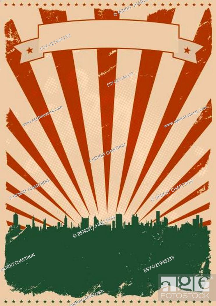 Imagen: Cool Vintage American Poster.