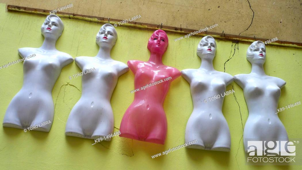 Stock Photo: Mannequins, Islamic Quarter, Cairo, Egypt.