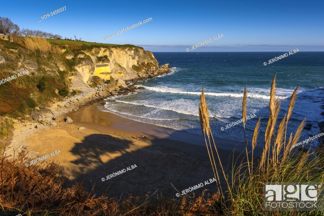 Stock Photo: Mataleñas beach, Cabo Menor. Santander, Cantabrian Sea. Cantabria, north Spain. Europe.
