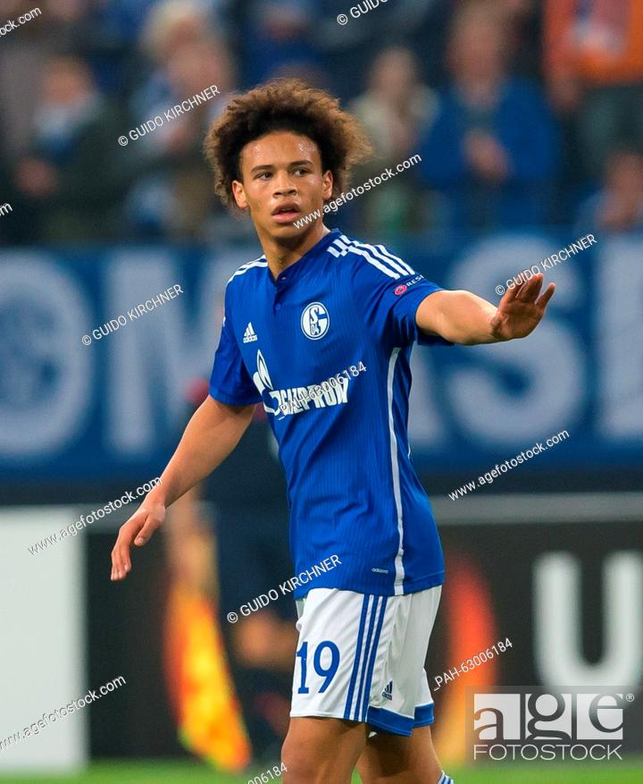 new product 19240 590bf Schalke's Leroy Sane in action during the Europa League ...
