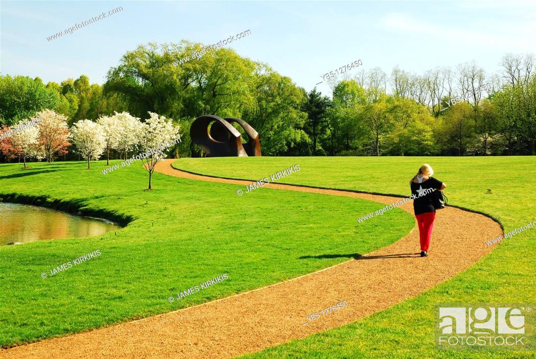 Stock Photo: PepsiCo Sculpture Garden, Purchase, NY.