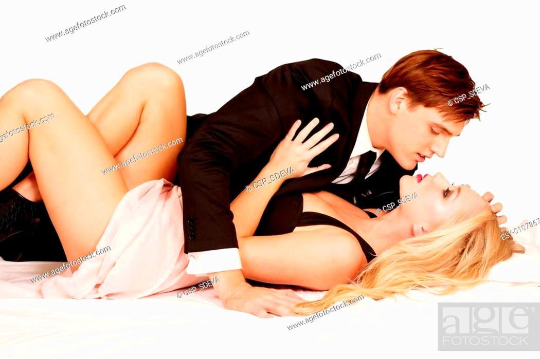 Stock Photo: Loving intimate couple.