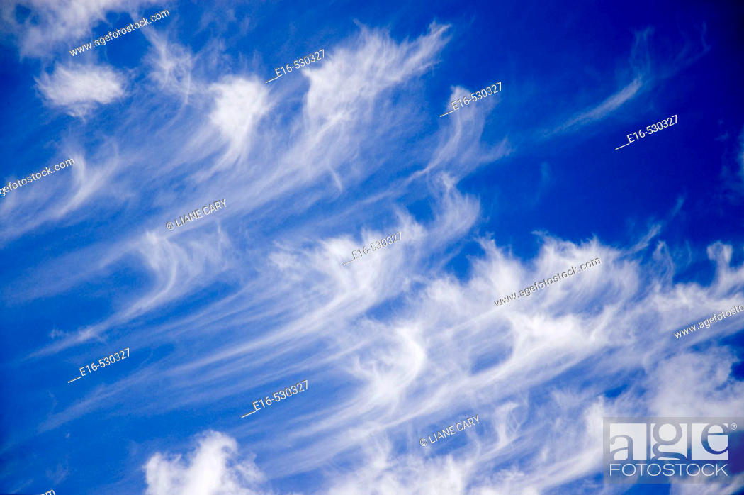 Stock Photo: Cloud formations.