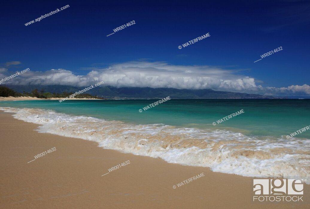 Stock Photo: Beach on Hawaii, Maui, Pacific, Hawaii, USA.