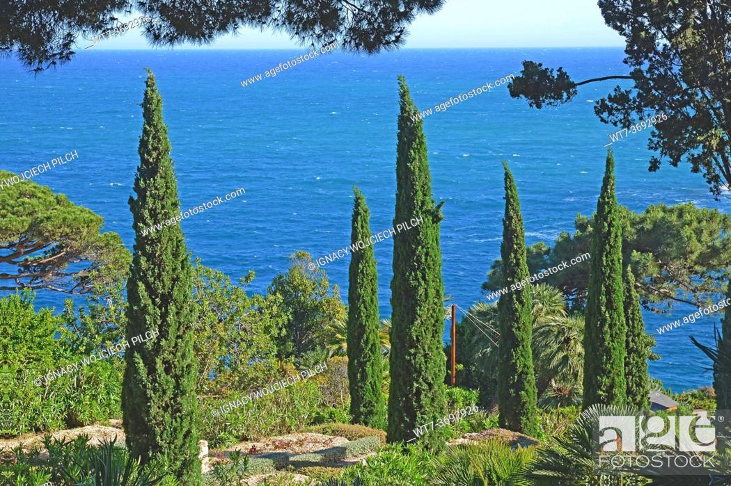 Stock Photo: Botanical Garden in Blanes, Spain.