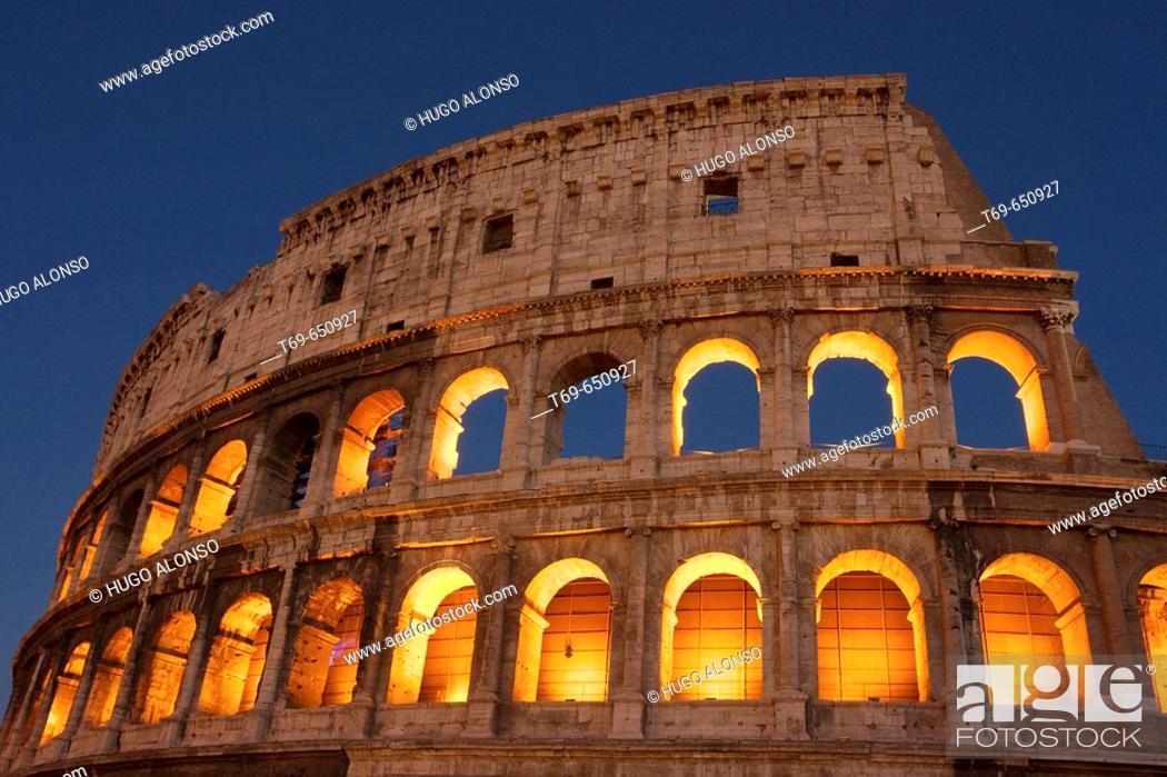 Stock Photo: Colosseum, Rome. Lazio, Italy.