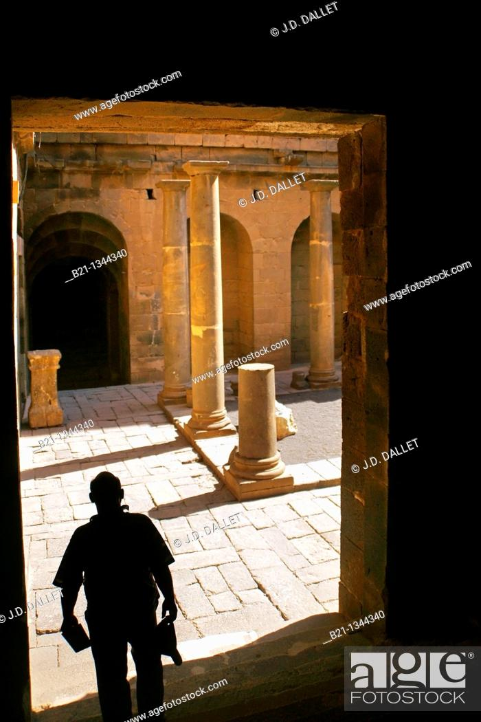 Stock Photo: Syria, Hauran, Bosra, Bosra theatre.