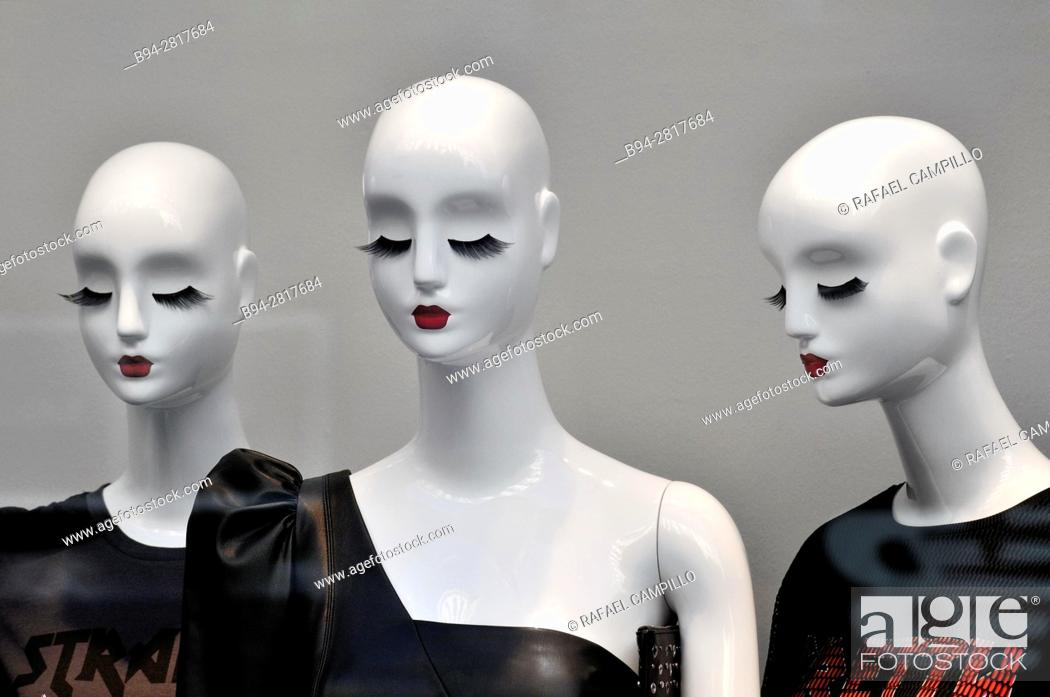 Stock Photo: Dummies in a clothing store. Barcelona. Catalonia. Spain.