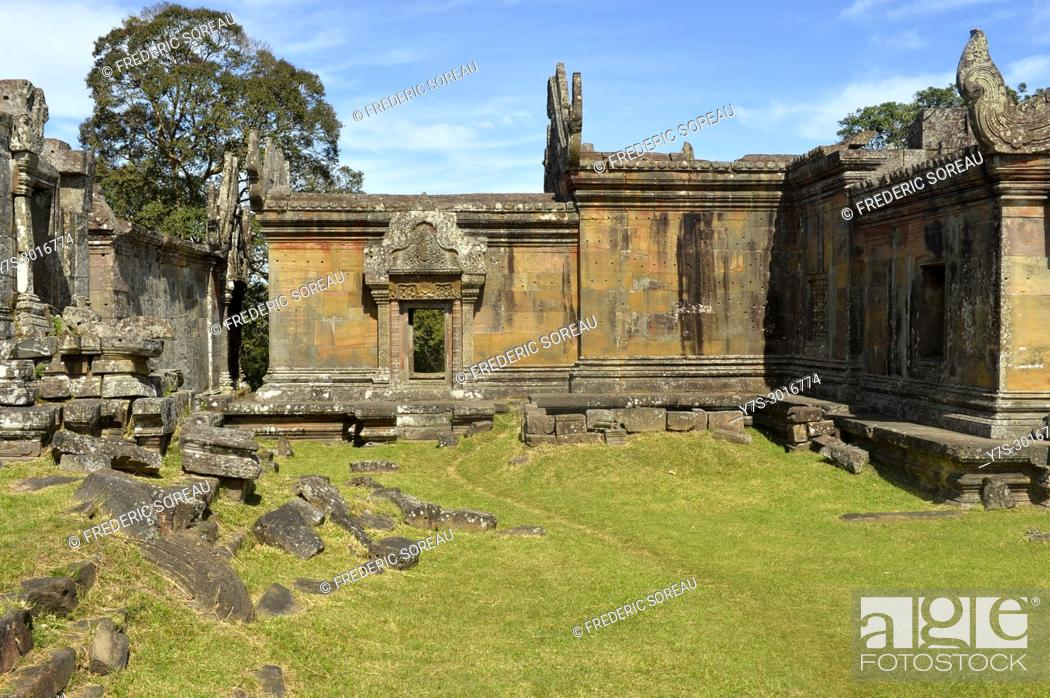 Stock Photo: Prasat Preah Vihear temple ruins, UNESCO World Heritage Site, Preah Vihear Province, Cambodia, South East Asia, Asia.