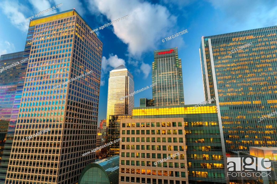 Stock Photo: Canary Wharf, London, England, UK.