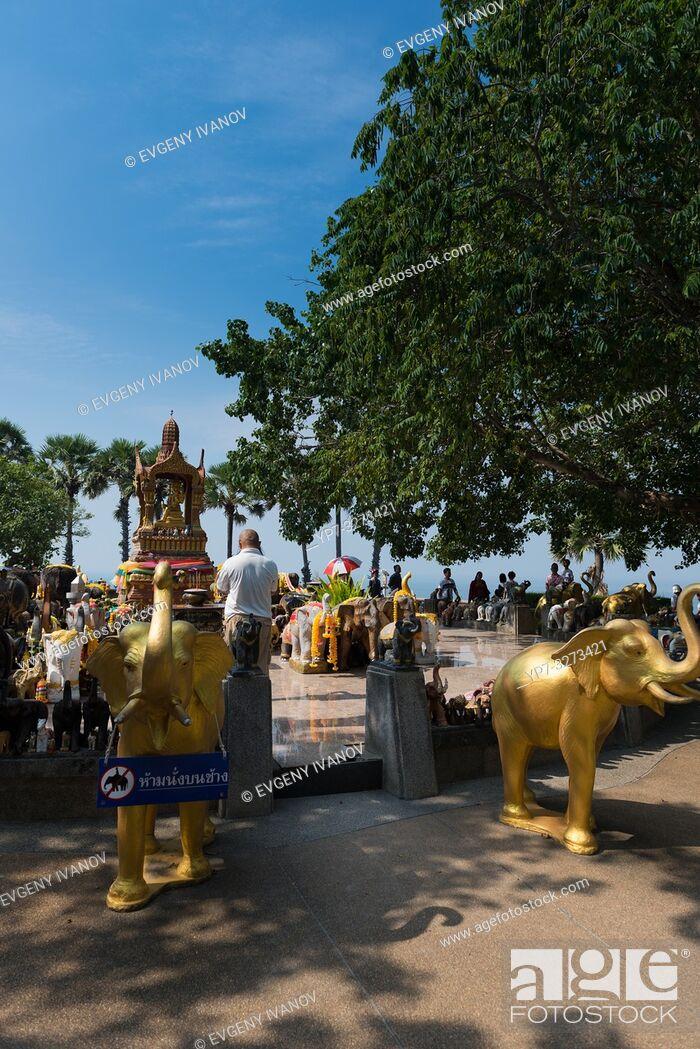 Stock Photo: Shrine to elephants on Promthep cape, Phuket.