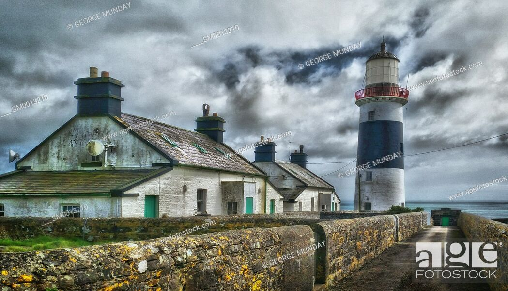 Stock Photo: Mine Head Lighthouse,. Ard Rinn (Ring) Peninsula,. County Waterford, Ireland.