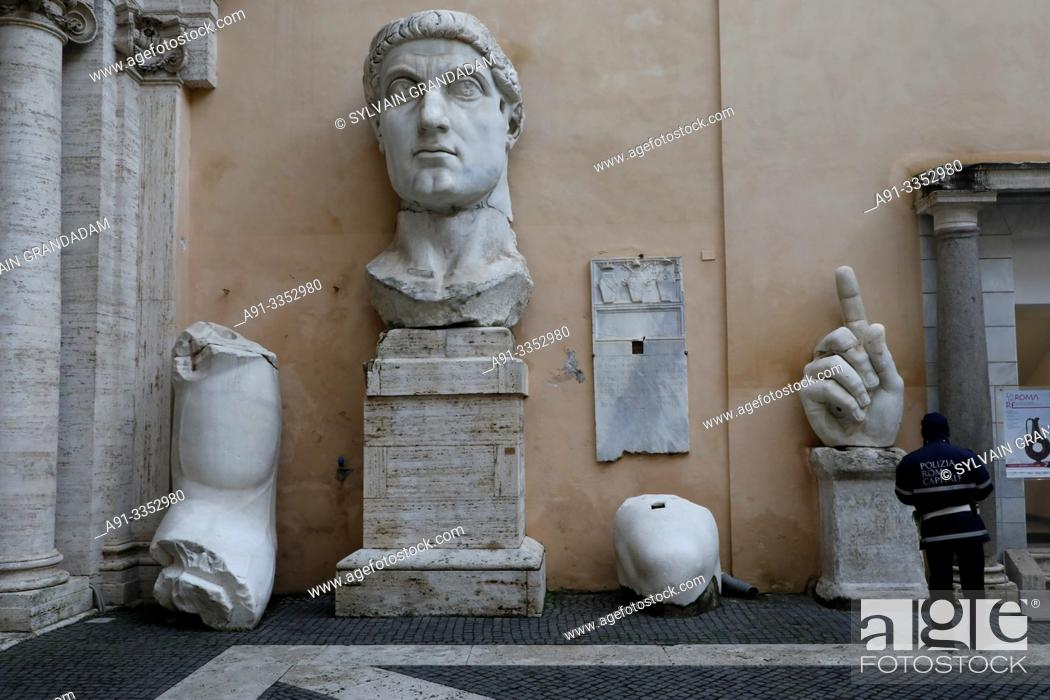 Stock Photo: Italy, city of Roma , capitol museum.