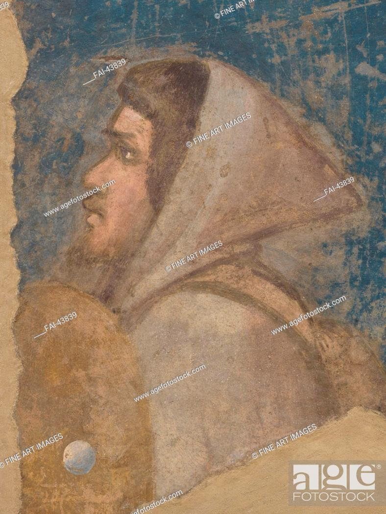 Stock Photo: The Shepherd's Head. Joachim among the shepherds by Giotto di Bondone (1266-1377)/Fresco/Gothic/1315-1321/Italy, Florentine School/Galleria dell'Accademia.