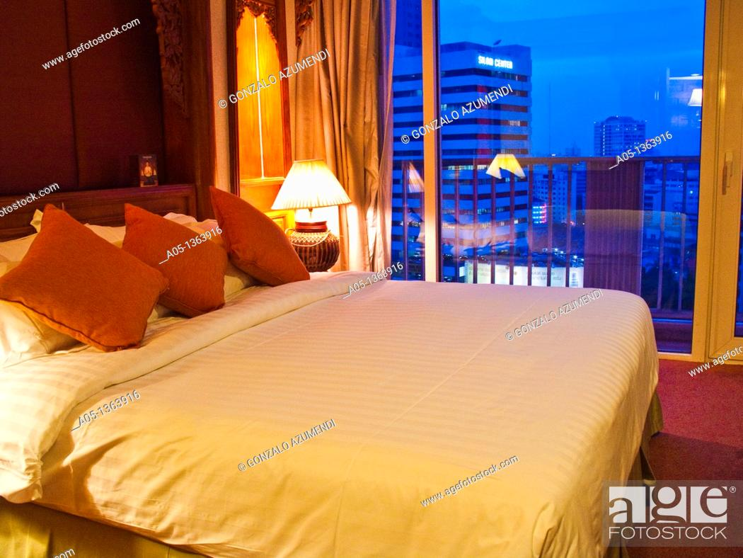 Stock Photo: Dusit Thani Hotel  Bangkok  Thailand  Southeast Asia, Asia.