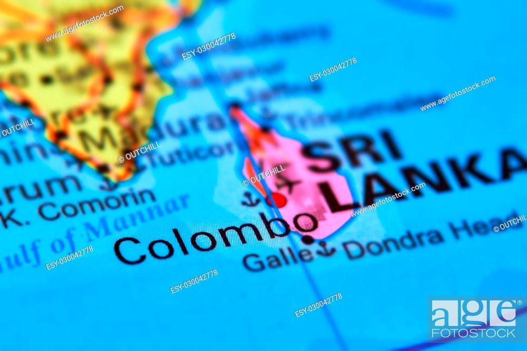 Picture of: Colombo Capital City Of Sri Lanka In The Indian Ocean Asia On The World Map Stock Photo Picture And Low Budget Royalty Free Image Pic Esy 030042778 Agefotostock