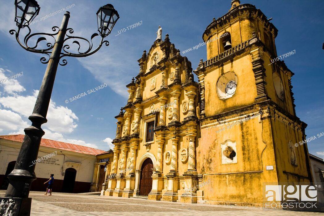 Stock Photo: La Recoleccion Church, Leon, Nicaragua.
