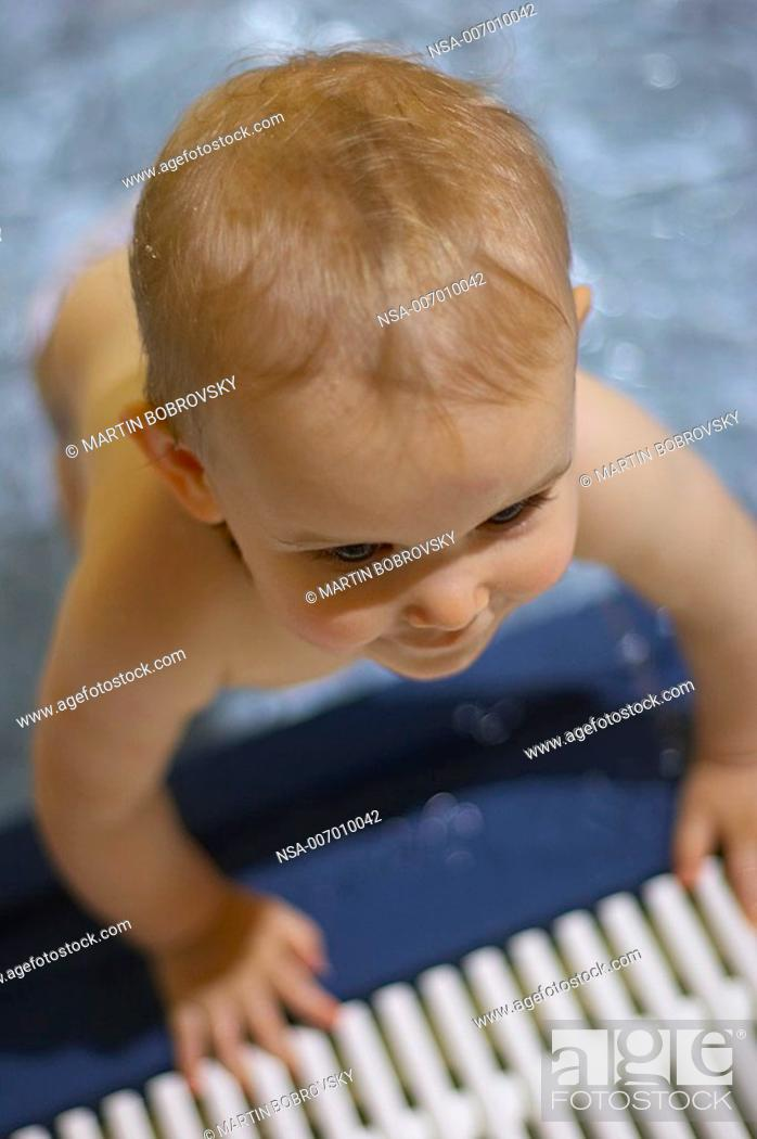baby in swimming bath, Stock Photo, Picture And Rights Managed Image ...