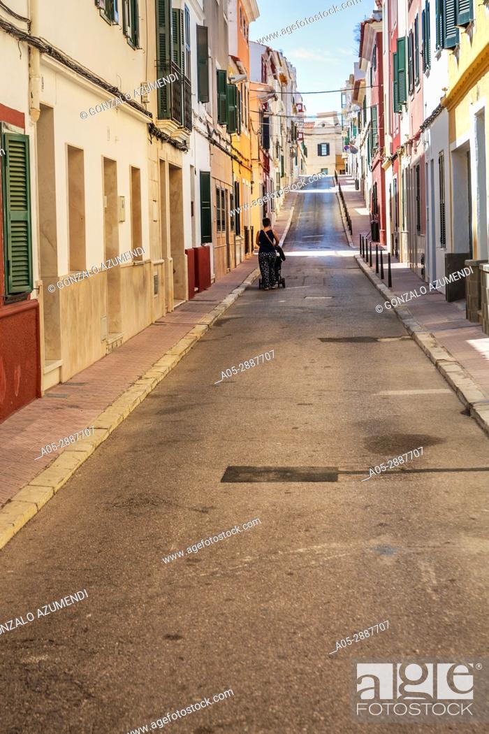 Stock Photo: Mahón City. Maó Municipality. Menorca Island. Balearic Islands. Spain.