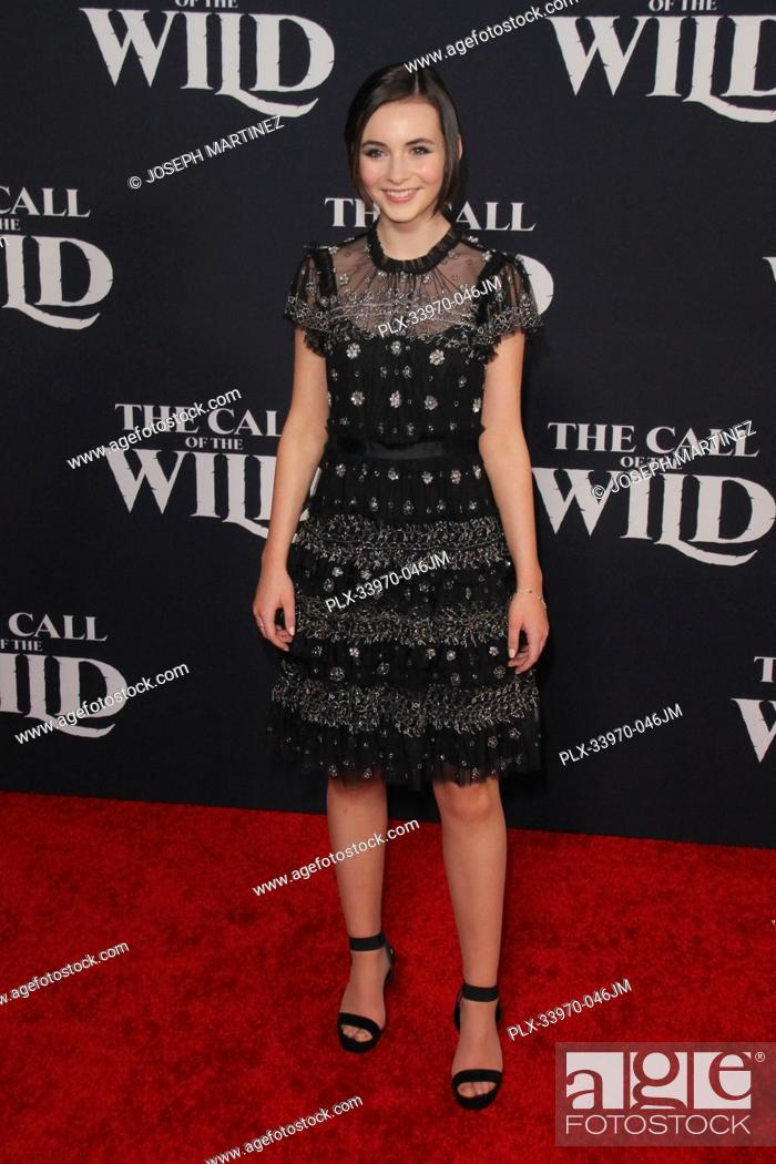 "Stock Photo: Lara McDonnell at """"The Call Of The Wild"""" World Premiere held at El Capitan Theatre in Los Angeles, CA, February 13, 2020."