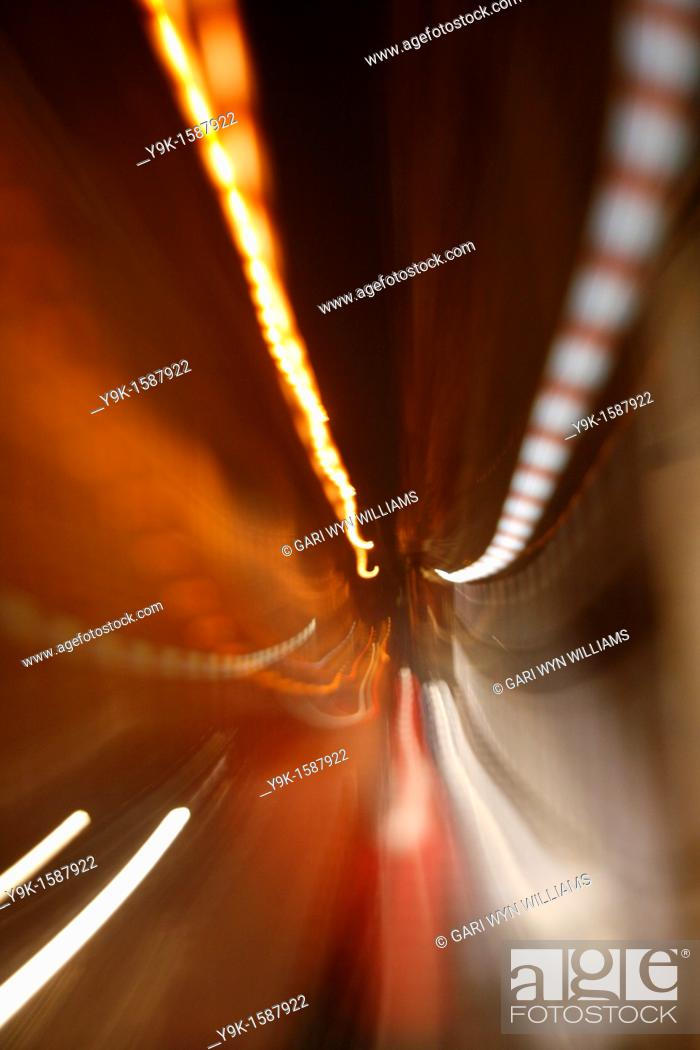 Stock Photo: Abstract traffic city lights at night.