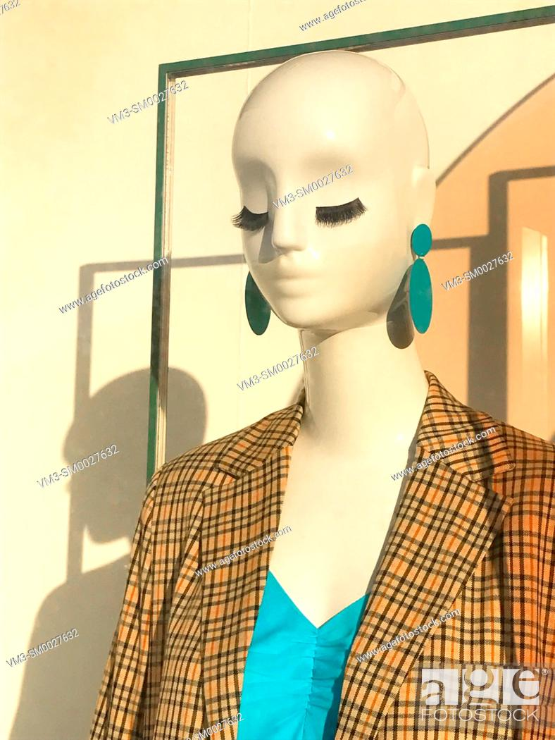 Stock Photo: Mannequin in a shop window. Madrid, Spain.