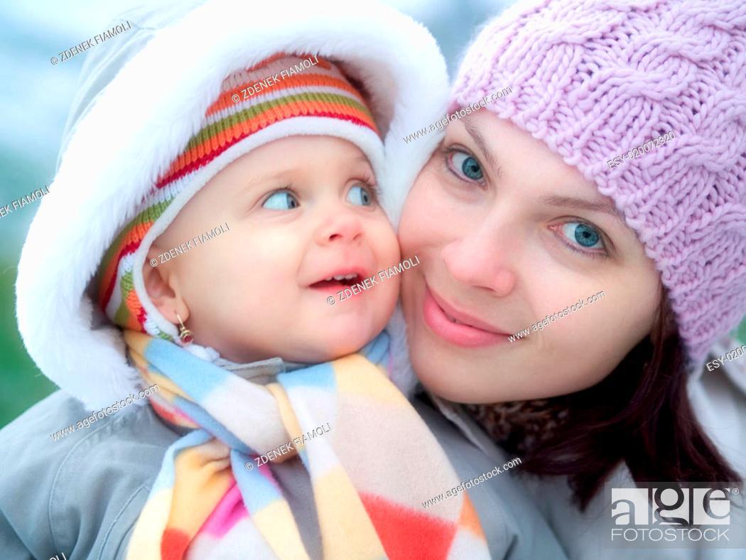 Stock Photo: Mama and baby.