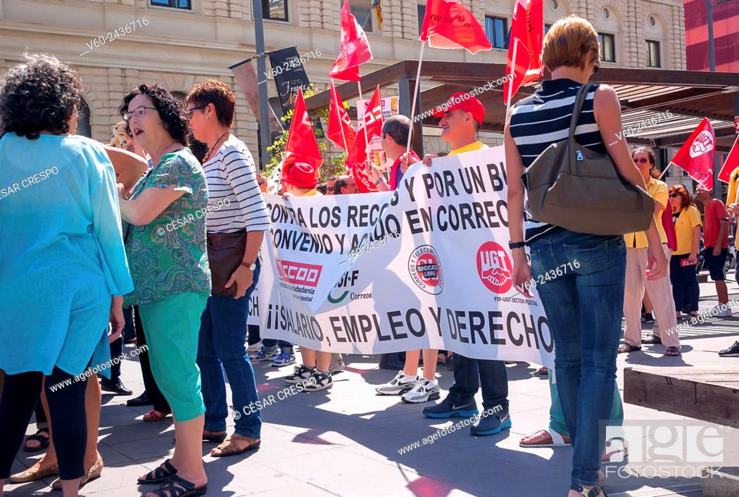 Demonstrations of Post Office Workers, against Spanish