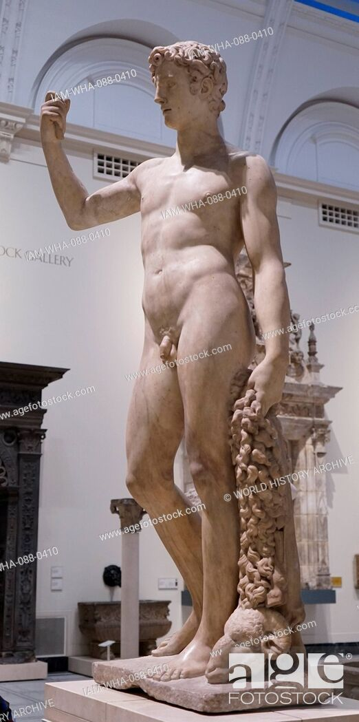 Stock Photo: Marble statue of the Greek mythological character Jason. Dated 16th Century.