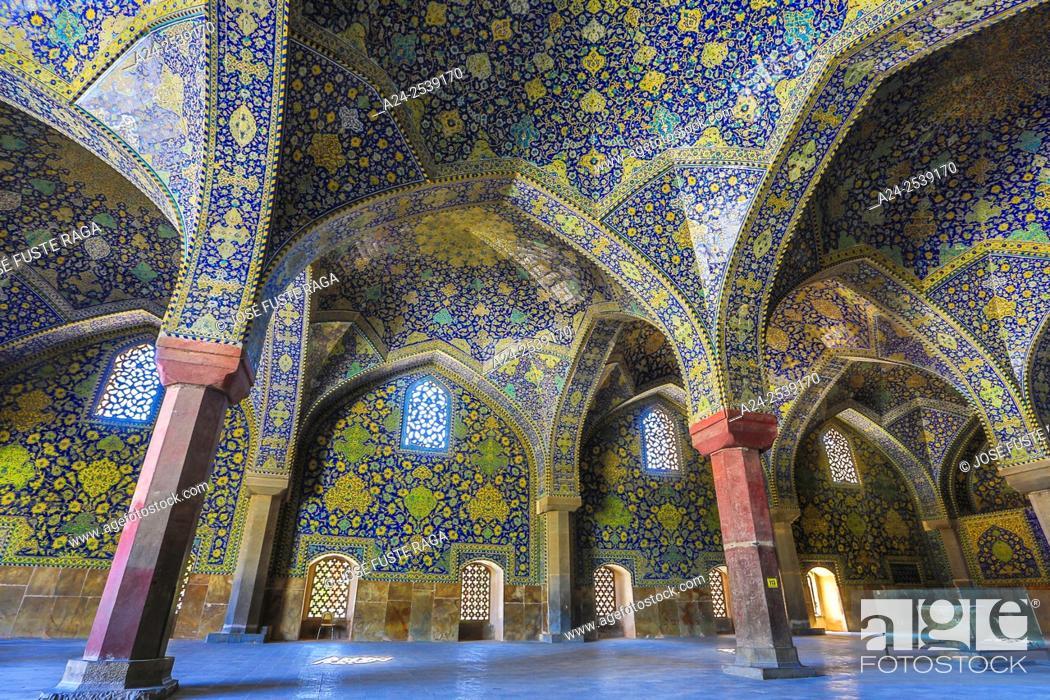 Stock Photo: Iran, Esfahan City, Naqsh-e Jahan Square, Masjed-e Shah Mosque.