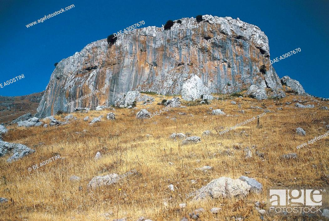 Stock Photo: Hell Summit (Pizzo dell'Inferno), Madonie Regional Park, Sicily, Italy.