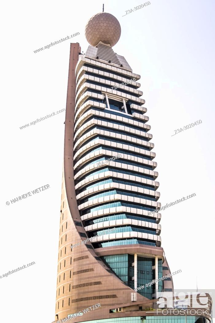 Stock Photo: The Etisalat Tower 2 in the Zabeel district, Dubai, UAE.