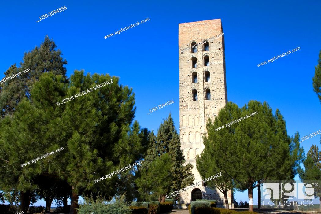 Stock Photo: Bell tower of San Nicolas church, declarated National Monument. Coca, Segovia province. Spain.